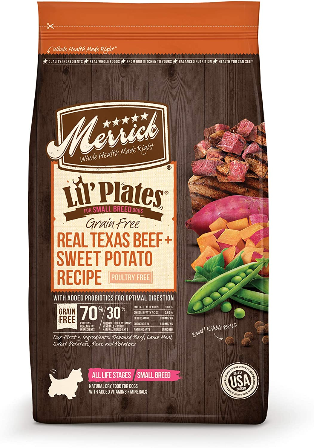 Merrick Lil Plates Small Dog with Real Meat Dry Dog Food