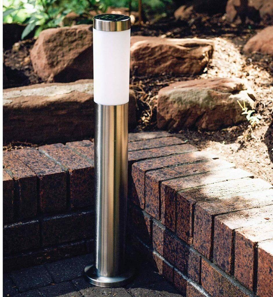 GardenKraft Solar Lamp Post - Solar Bollard Lights